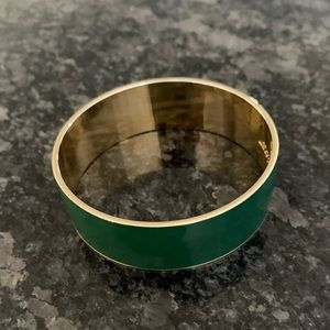 J. Crew Green Enamel Bangle